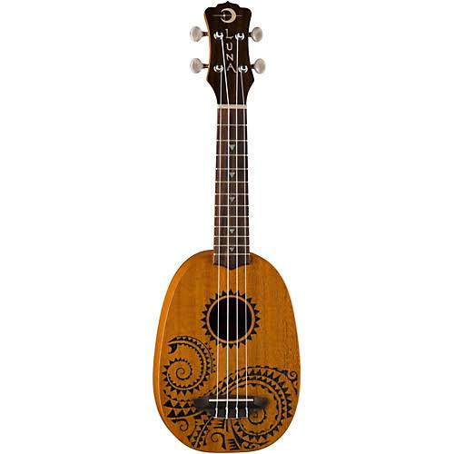 Luna Tattoo Pineapple Ukulele - Soprano, 21""