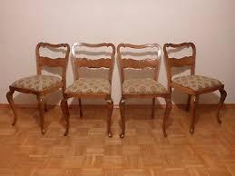 4x alter stuhl vier alte stühle geschwungene beine