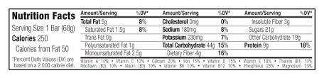 Chocolate Brownie Nutritional Facts
