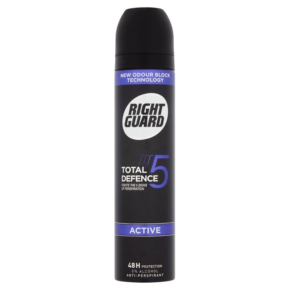 Right Guard Total Defence 5 Active Power Anti-Perspirant, 250 ml