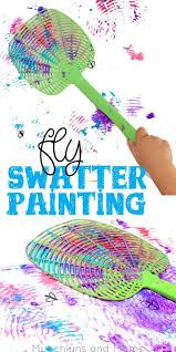 Fly Swatter Painting Motor ActivitiesKindergarten ActivitiesSummer ActivitiesPreschool ArtToddler
