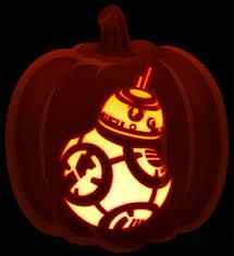 Yoda Pumpkin Stencil by Star Wars Orange And Black Pumpkins