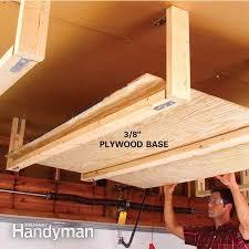 diy wood overhead garage storage DIY Overhead Garage Storage