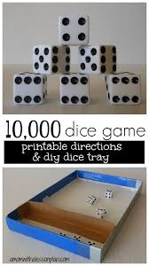 10000 Dice Game Rules And Tray