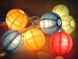 Awesome Paper Lantern Lights And And Paper String Light And Paper