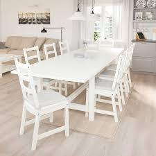 nordviken nordviken tisch und 6 stühle weiß weiß 210 289x105 cm