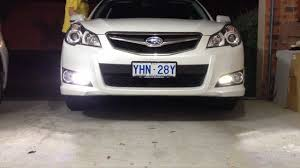 subaru liberty legacy with daytime running light drl