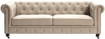 amazon com gordon tufted sofa 32 hx91 wx38 d natural linen