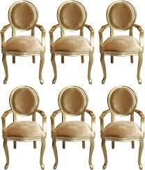 casa padrino luxus barock esszimmer set medaillon gold gold 58 x 54 x h 103 cm 6 handgefertigte esszimmerstühle mit armlehnen barockmöbel
