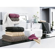 kenborg duschtuch micro baumwolle in schwarz grau