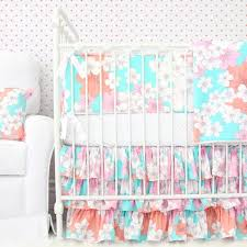 Teal And Coral Baby Bedding by Coral Crib Bedding Peach Baby Bedding Caden Lane