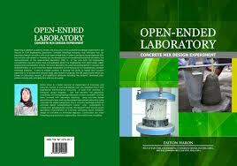 Open ended laboratory concrete mix design experiment book