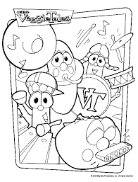 Veggie Tales Coloring Pages On Music Band For Adult