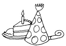 Birthday celebration clip art black and white photo 14