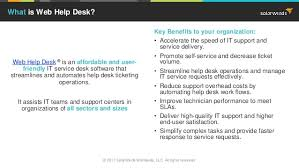 Solarwinds Help Desk Api by Top 5 Reasons To Use Web Help Desk For Ticketing Management
