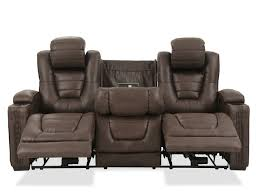 mathis brothers sofa and loveseats power reclining microfiber 84 sofa in brown mathis brothers