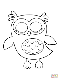 Click The Sleepy Owl Coloring Pages