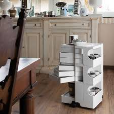 Plastic Drawers On Wheels by 6 Tier Plastic Storage Cart On Wheels Rolling Cart Organizer For