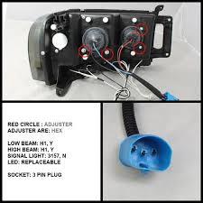 spyder auto dodge ram 1500 02 05 ram 2500 3500 03 05 projector