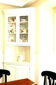 Small Corner Cabinet Dining White Room Enchanting Inspirations Lovely