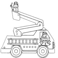Fire Truck Coloring Pages Printable Kids Colouring