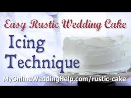 How To Create A Basic Rustic Wedding Cake Look With Buttercream Icing