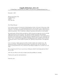 Cover Letter Examples Nursing Sample Resume For Registered Nurse Inspirationa