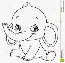 Elephant Head Coloring Page And