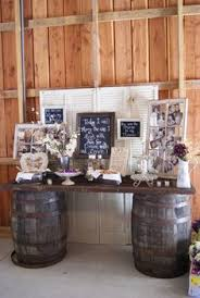 Chic Rustic Wedding Bride And Groom Table Decoration Ideas Old Door For With
