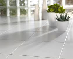 White 12x12 Vinyl Floor Tile by Fancy Grouted Vinyl Tile Kitchen Floor Featuring Forest Ground