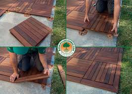 decking tiles installation ipe wood deck tiles install