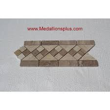 travertine and marble tile border 5 x 12