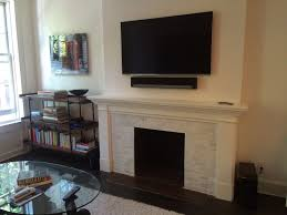 100 Bright Home Theater Installation Of Television And Sonos Playbar Above A