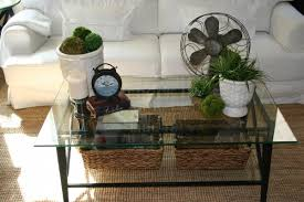 Large Size Of Dazzling Round Glass Coffee Table Decorating How To Decorate A