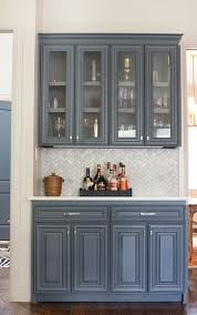 lovely kitchen furniture features butler pantry with marble