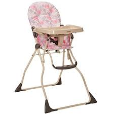 amazon com cosco slim fold high chair casey childrens