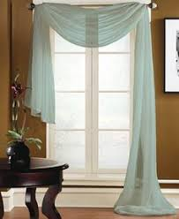 Brylane Home Lighted Curtains by Jcp Home Sensations Rod Pocket Semi Sheer Scarf Valance