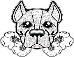 Puppy Dog Coloring Pages Printable Sheets Free Pitbull Adults