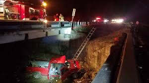 100 Two Men And A Truck Huntsville Al Man Rescued In Thens After Truck Fell 20 Feet Off The Road
