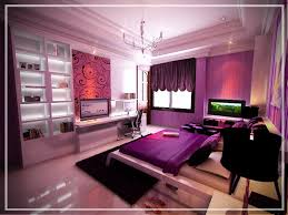 BedroomAmazing Modern Purple Bedroom Decor Idea With Artistic Wallpaper Amazing