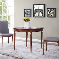 Southern Enterprises Ricoane Convertible Console To Dining Table Modern Farmhouse Style Dark Sienna