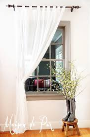 Allen And Roth Wood Curtain Rods by Whitewashed Curtain Rod Tutorial Maison De Pax