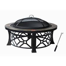 pit with pvc cover black with antique bronze leg frame