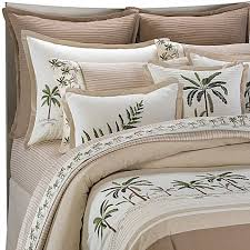 Palm Tree Bedding Leaf Twin Full Queen King Croscill Fiji Bed