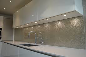 Snow White Luxury Collection Glass Kitchen Splashback By CreoGlass
