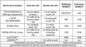 tarif salle des fetes info salle des fête de morey 71510
