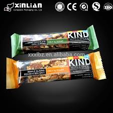 Food Grade Pecan Bar Packaging Bag Energy Plastic Sweets Pouch