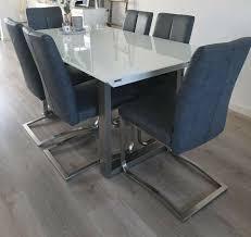 6 stühle esszimmer küche xora grau schwingstühle