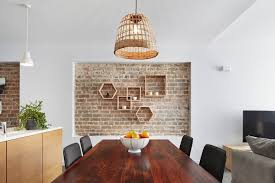 Urban House Dining Room Contemporary With Exposed Brick Dome Pendant Lights