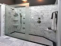 favorite walk also shower lightbrown tile wall frameless shower